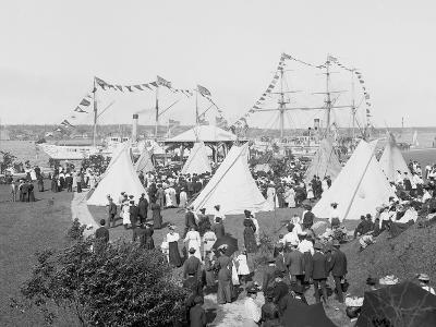 Indian Village, Saint Marys Sic Canal Celebration, Sault Ste. Marie, Mich.--Photo