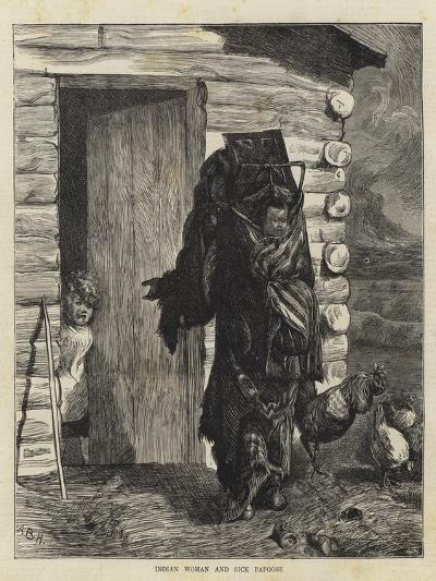 Indian Woman and Sick Papoose-Arthur Boyd Houghton-Giclee Print