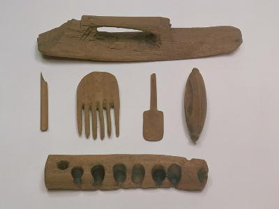 Indian: Wooden Tools and Implements, Mazar Tagh, Tunhuang, Mazar Toghrak, Ying Pan and Niya--Giclee Print