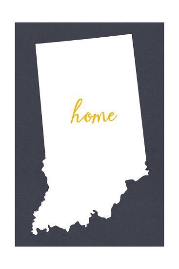 Indiana - Home State - Gray-Lantern Press-Art Print