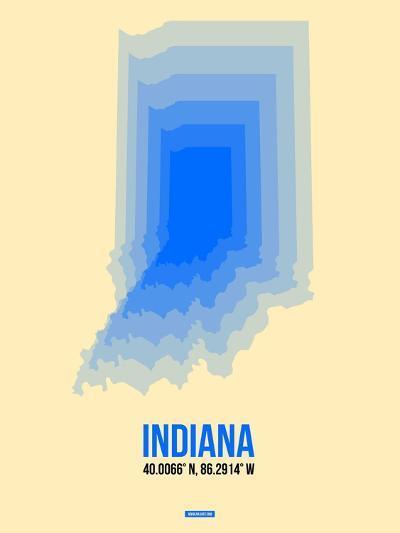 Indiana Radiant Map 1-NaxArt-Art Print