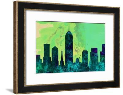 Indianapolis City Skyline-NaxArt-Framed Art Print