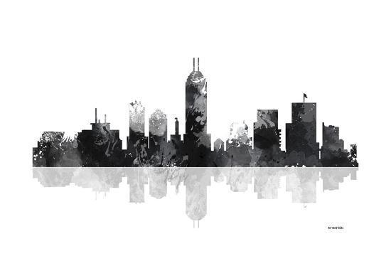 indianapolis indiana skyline bg 1 giclee print by marlene watson