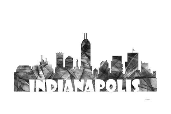 indianapolis indiana skyline bg 2 giclee print by marlene watson