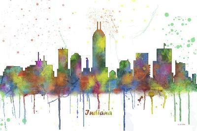 Indianapolis Indiana Skyline MCLR 1-Marlene Watson-Giclee Print