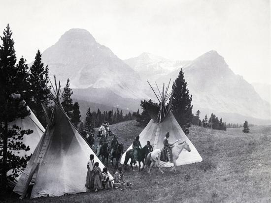 Indians about to Leave for the Hunt-Philip Gendreau-Photographic Print
