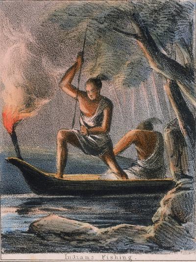 Indians Fishing, C1845-Benjamin Waterhouse Hawkins-Giclee Print