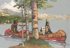 Indians in Canoe
