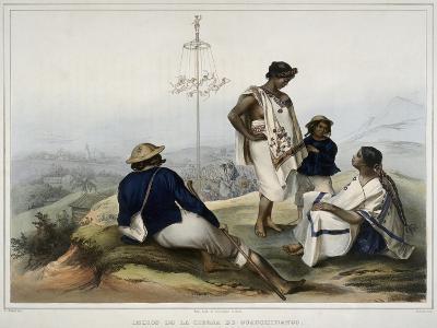 Indians of the Guauchinango Mountains-Carl Nebel-Giclee Print
