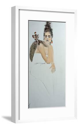 Indigenous Australian Woman with Joey, 2016-Susan Adams-Framed Giclee Print