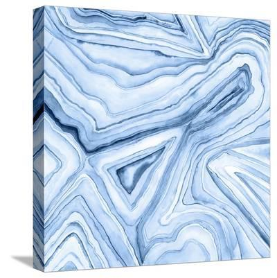 Indigo Agate Abstract I-Megan Meagher-Stretched Canvas Print