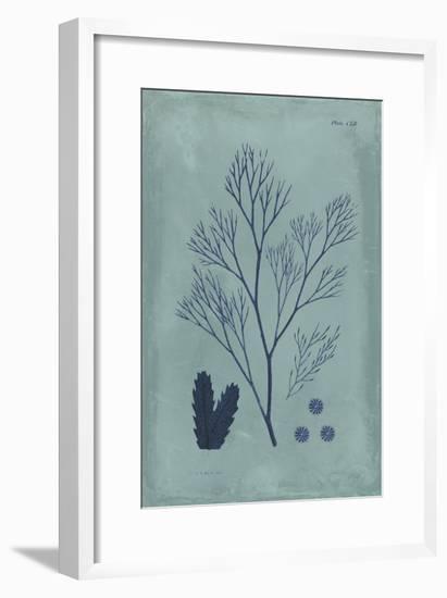 Indigo and Azure Seaweed V-Vision Studio-Framed Art Print