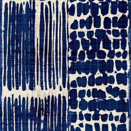 Indigo Batik III-Hugo Wild-Art Print