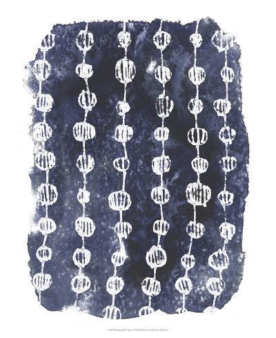 Indigo Batik Vignette I-June Erica Vess-Art Print