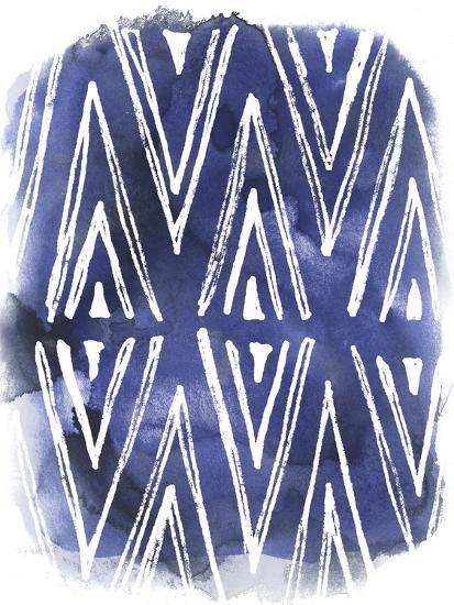 Indigo Batik Vignette II-June Erica Vess-Art Print