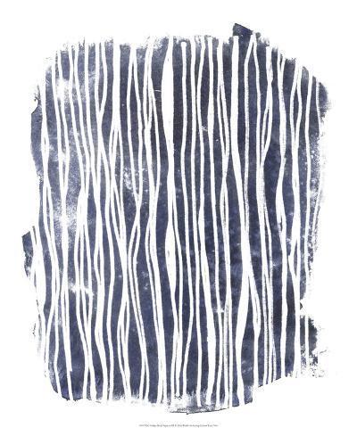 Indigo Batik Vignette III-June Erica Vess-Art Print