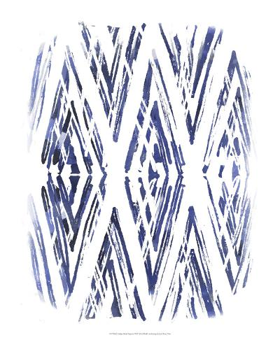 Indigo Batik Vignette VI-June Erica Vess-Art Print