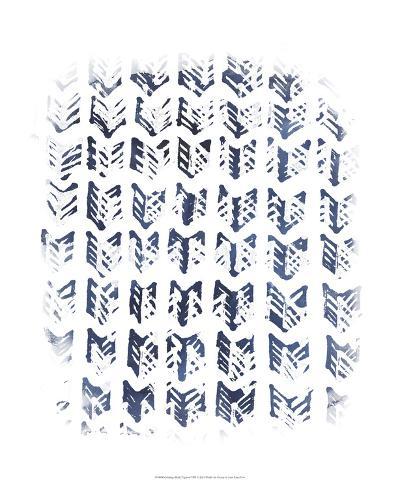 Indigo Batik Vignette VIII-June Erica Vess-Art Print