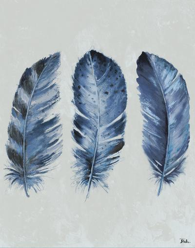 Indigo Blue Feathers II-Patricia Pinto-Art Print