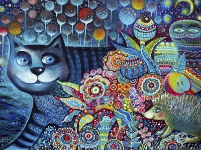 Indigo Cat-Oxana Zaika-Giclee Print