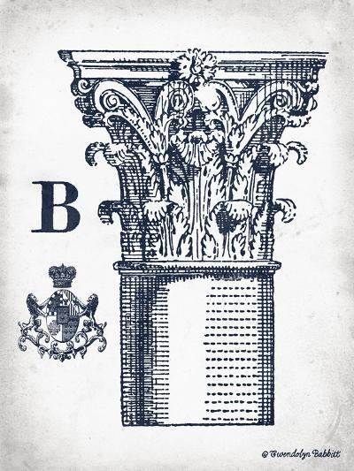Indigo Column B-Gwendolyn Babbitt-Art Print