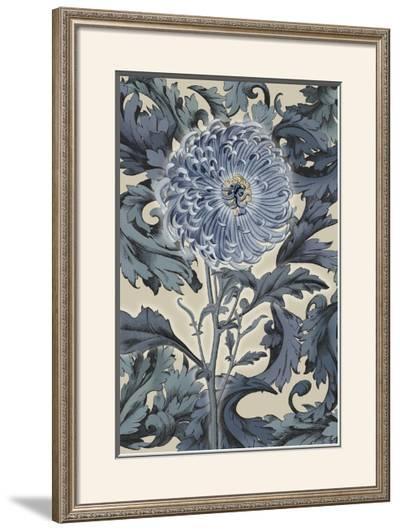 Indigo Deco Flower I-Emma Hill-Framed Giclee Print