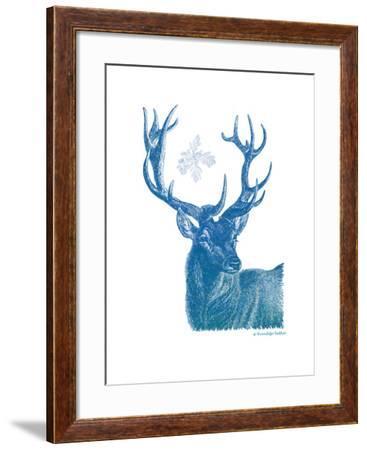 Indigo Deer I-Gwendolyn Babbitt-Framed Art Print