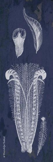 Indigo Feathers I-Gwendolyn Babbitt-Art Print
