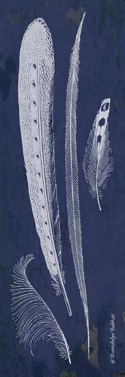 Indigo Feathers IV-Gwendolyn Babbitt-Art Print