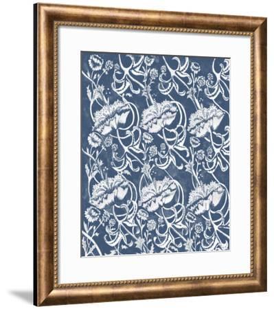 Indigo Floral Chintz II-Naomi McCavitt-Framed Giclee Print
