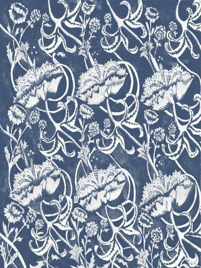 Indigo Floral Chintz II-Naomi McCavitt-Art Print