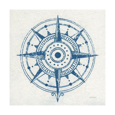 Indigo Gild Compass Rose I-Kathrine Lovell-Art Print