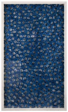 Indigo Honeycomb Paper Art Shadowbox