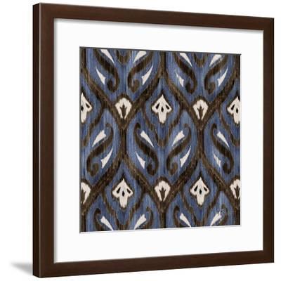 Indigo Ikat II-Paul Brent-Framed Art Print