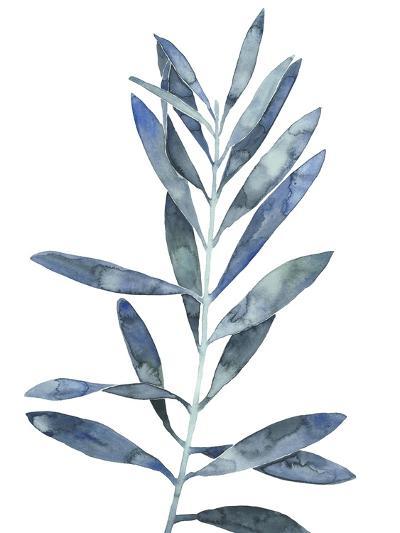 Indigo Leaves II-Megan Meagher-Art Print