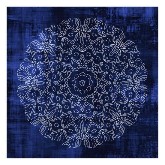 Indigo Mandala 3-Kimberly Allen-Art Print