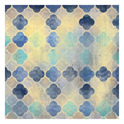 Indigo Marble Pattern-Kimberly Allen-Art Print