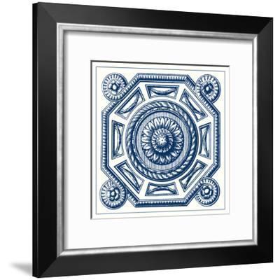 Indigo Medallion II-Vision Studio-Framed Art Print