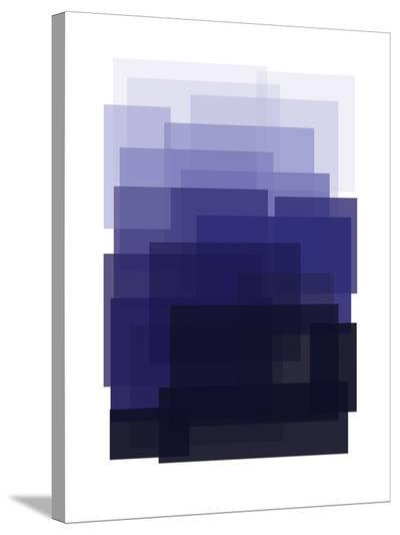 Indigo Ombre-Ashlee Rae-Stretched Canvas Print