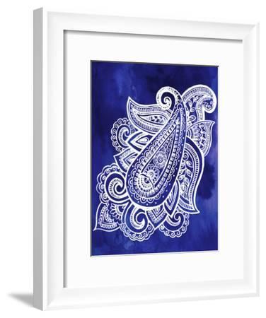 Indigo Paisley I-Jennifer Paxton Parker-Framed Art Print
