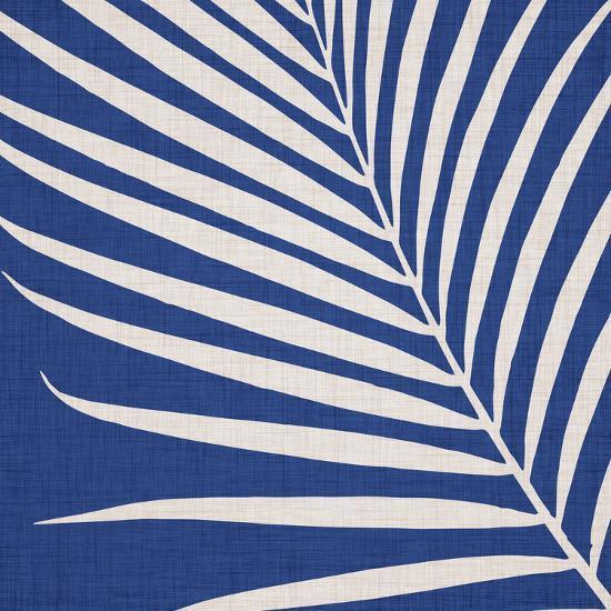Indigo Palm Leaf-Modern Tropical-Art Print