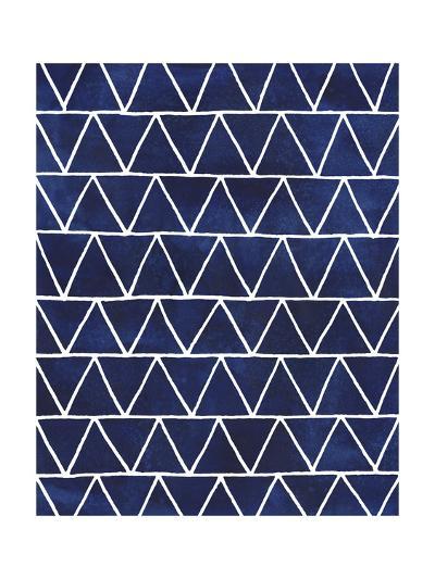 Indigo Pattern IV-Grace Popp-Art Print