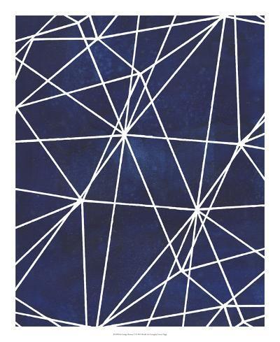 Indigo Pattern V-Grace Popp-Art Print