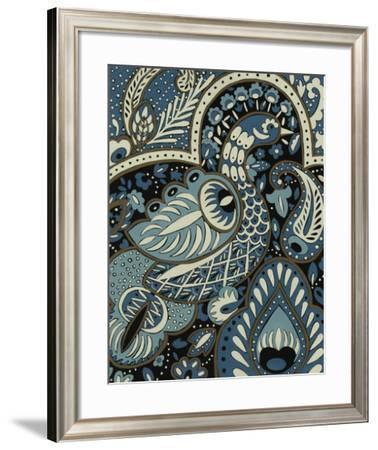Indigo Peacock I-Chariklia Zarris-Framed Giclee Print