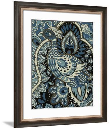 Indigo Peacock II-Chariklia Zarris-Framed Giclee Print