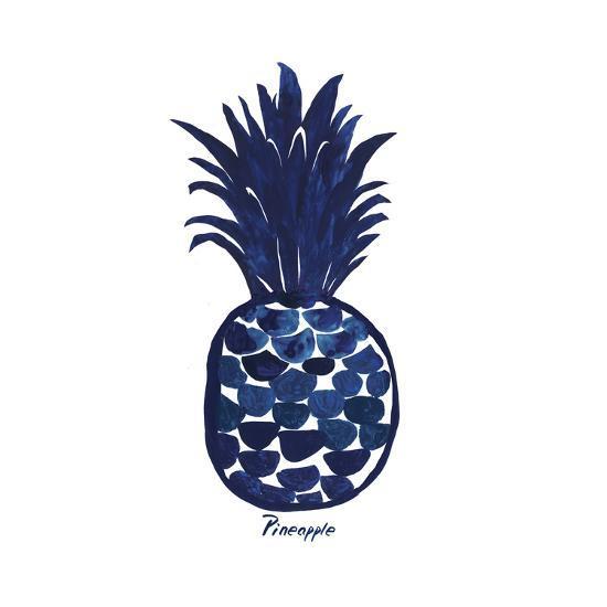 Indigo Pineapple Art Print Aimee Wilson Art Com