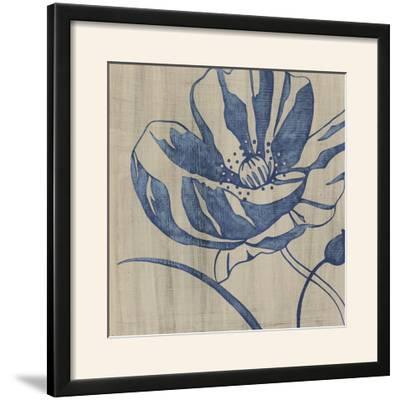 Indigo Poppy-Chariklia Zarris-Framed Photographic Print