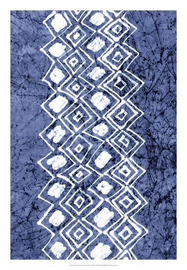 Indigo Primitive Patterns IV-Renee W^ Stramel-Giclee Print