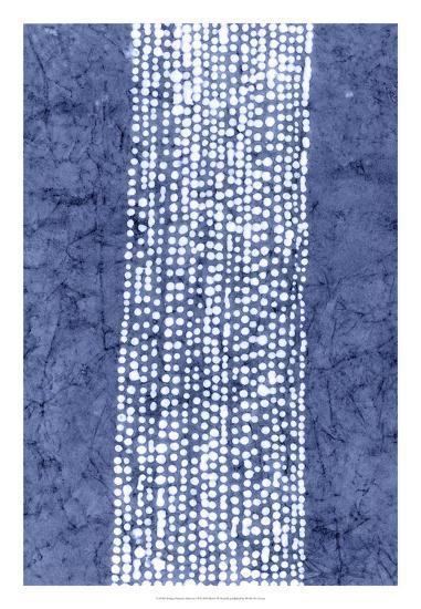 Indigo Primitive Patterns VI-Renee W^ Stramel-Giclee Print