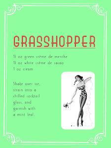Cocktail Grasshopper by Indigo Sage Design